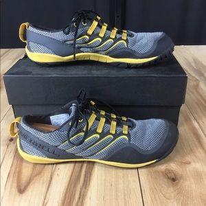 Merrell Barefoot climbing trail shoes smoke yellow